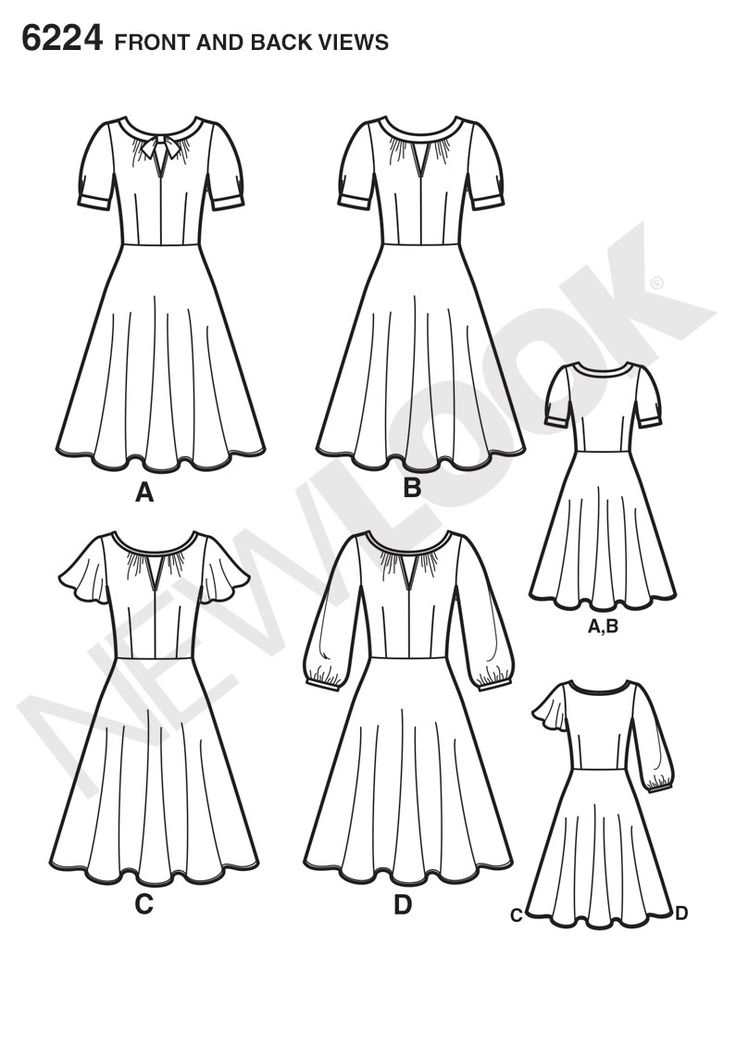 Simplicity Creative Group - Misses' Dress with Sleeve Variations: