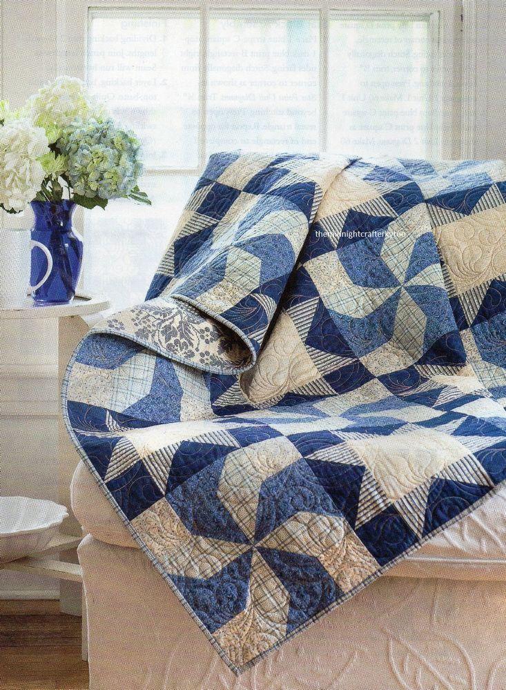 Mejores 203 imágenes de Blue Quilts en Pinterest   Colchas azules ...