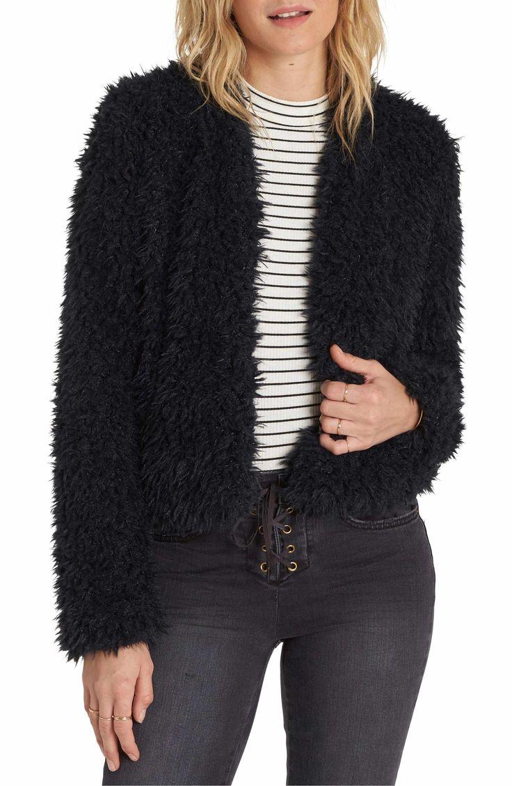 Billabong Keeps Faux Fur Jacket