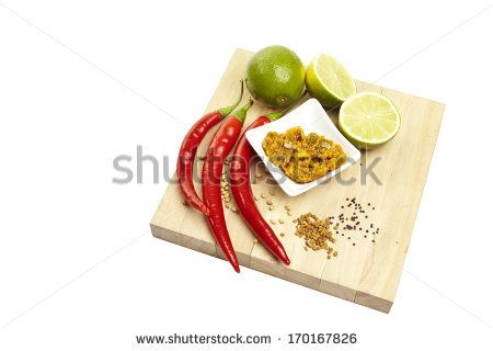 Indian pickles on a white background by SirChopin, via Shutterstock