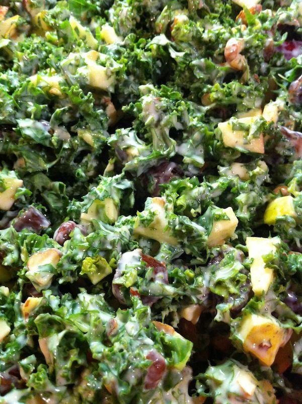 Salat_Grønkål, æble, skyr, citron