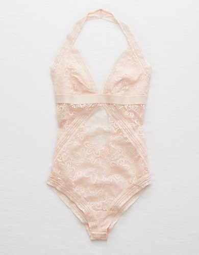Aerie Blooming Lace Bodysuit , Fair | Aerie for American Eagle