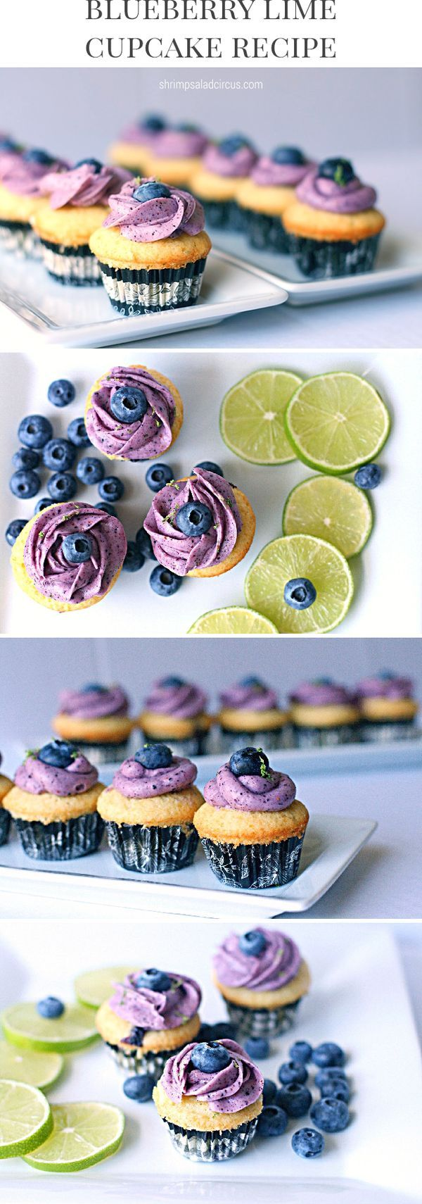 Lime Blueberry Cupcake Recipe with Fresh Fruit, Juice, and Natural Ingredients - The perfect party food or sweet snack or dessert treat!