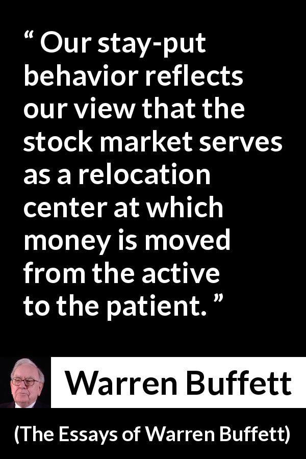 """Warren Buffett Patience Quote : warren, buffett, patience, quote, Warren, Buffett, About, Patience, (""""The, Essays, Buffett"""",, 1997), Genius, Quotes,, Trading, Financial, Quotes"""