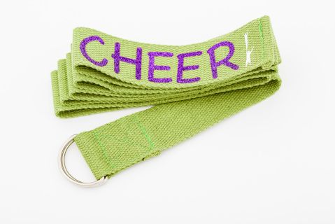 These stretch bands will Increase flexibility, Improve your form and help you hold stretches for longer periods. They are made out of high quality cotton with an easy to use D-ring buckle.   Length: 183cm #Cheerific.ca #Cheer #Cheerleading #Cheermerchandise #flexiblilityband