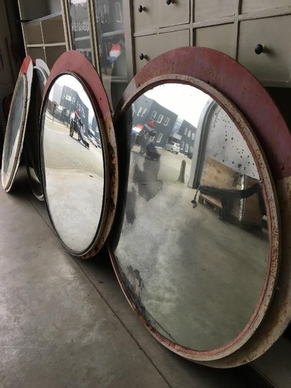 Wholesale export Company for VINTAGE  -industrial mirror  from Holland / Europe shipping worldwide . - various - 04 VINTAGE - Davidowski