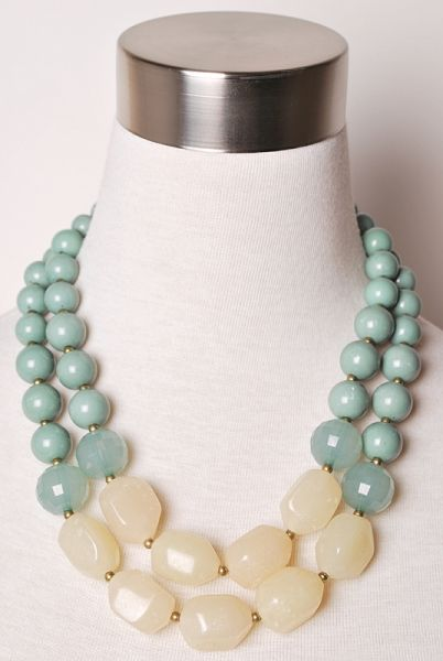 No longer available on sale site - but this is a beautiful pattern for a necklace. Consider making similar with 'my' colors. Mint Green Necklace. Site has reasonable pricing.
