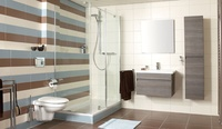 striped tiled wall