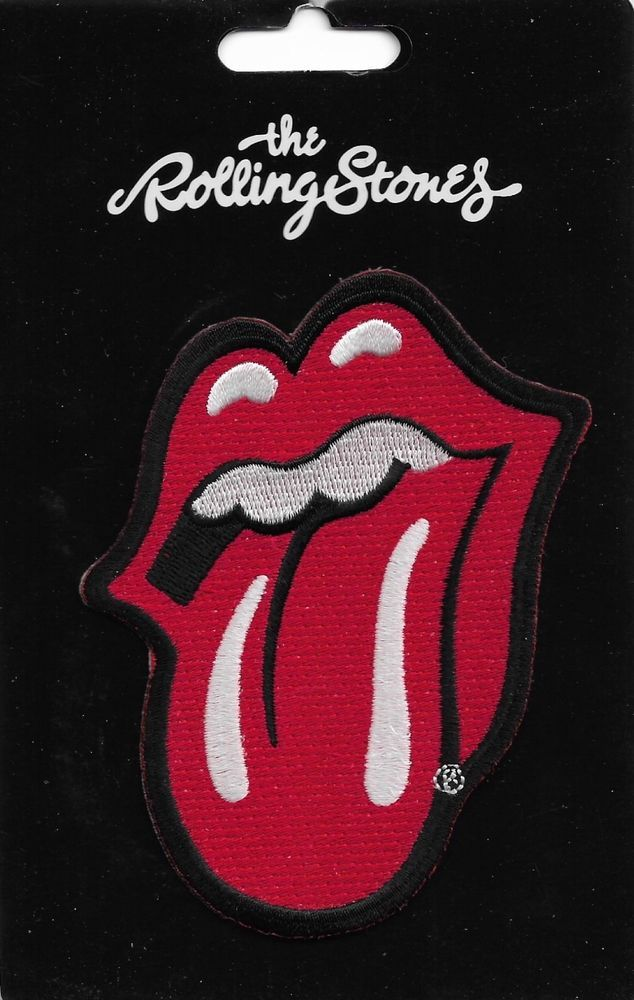 The Rolling Stones Tongue Flag Canada Badge Embroidered Iron-On Sew-On patches