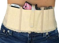 Ladies Womens Concealed Carry Lace Waistband Gun Holster-Hidden Heat Lace-Natrl