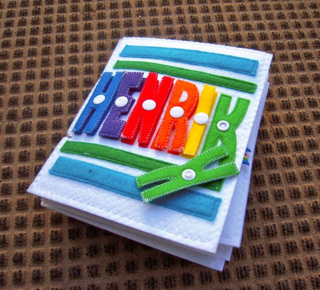 Quiet Book Cover Page Ideas : Awesome cover name with snap on off letters quiet book