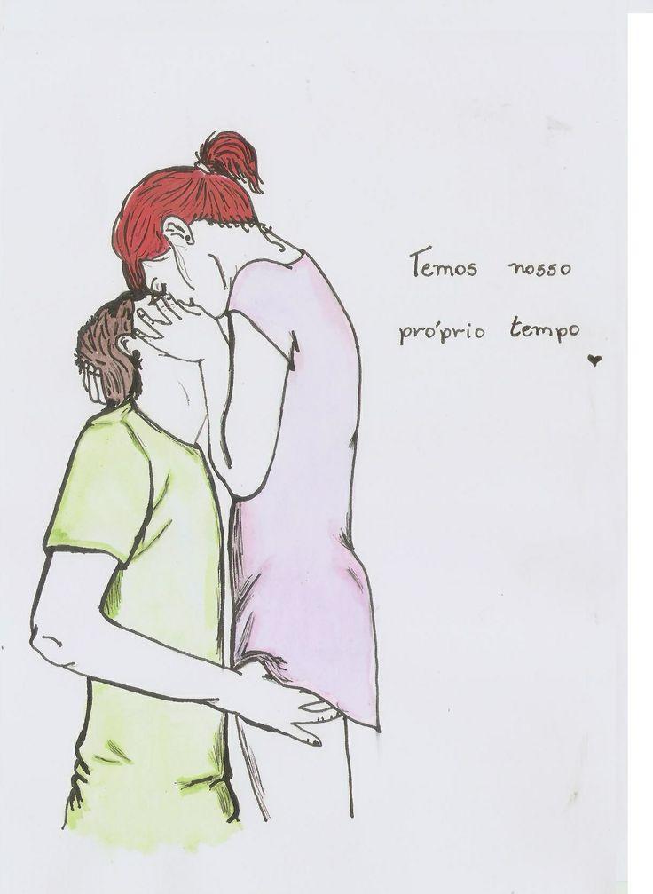 Tempo Perdido Aquarela Watercolor Cute Couple