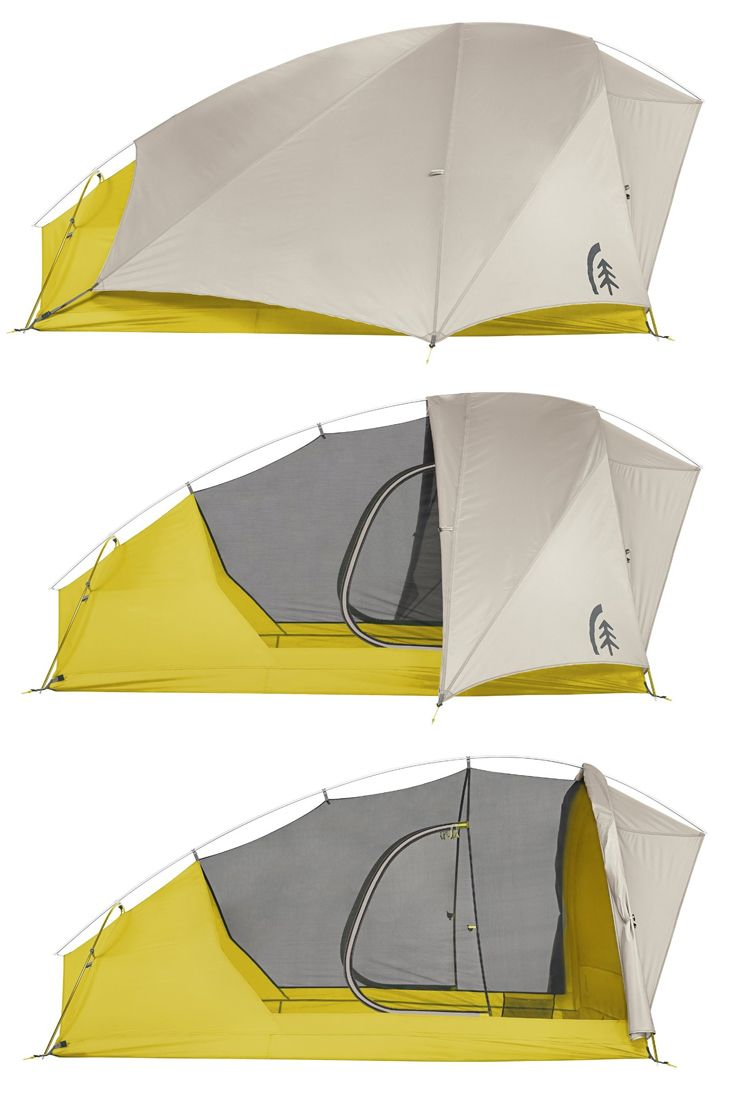 The new Nightwatch 2-Person Tent features all of the same benefits as the popular Lightning 2 and then some. With the Nightwatch you get a retractable rain fly, allowing for unhindered stargazing. Plus the two gear ports have been upgraded to be usable as doors when the fly is rolled back. Minimum Weight (tent and pols only): 3 lbs 8 oz.