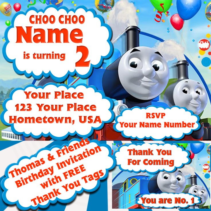10 best Kids Birthday Invitations with Free Thank You Cards images ...