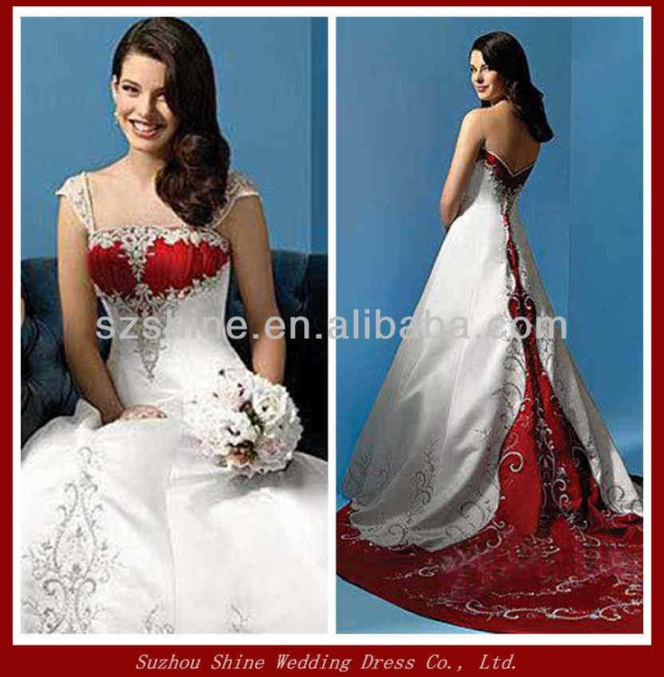 The 102 best Christmas Wedding Dresses images on Pinterest | Red ...