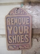 Please Remove Your Shoes sign