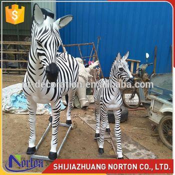 trade assurance life size garden zebra fiberglass statues for sale NTRS665S
