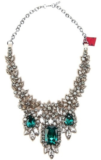 Necklaces / karen cox.  Valentino Crystal Embellished Necklace...Crystal and rhinestone statement bib necklace (jewelry)