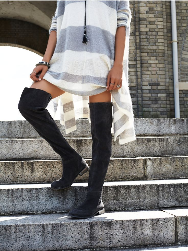 carlisle suede the knee boot rugged the knee