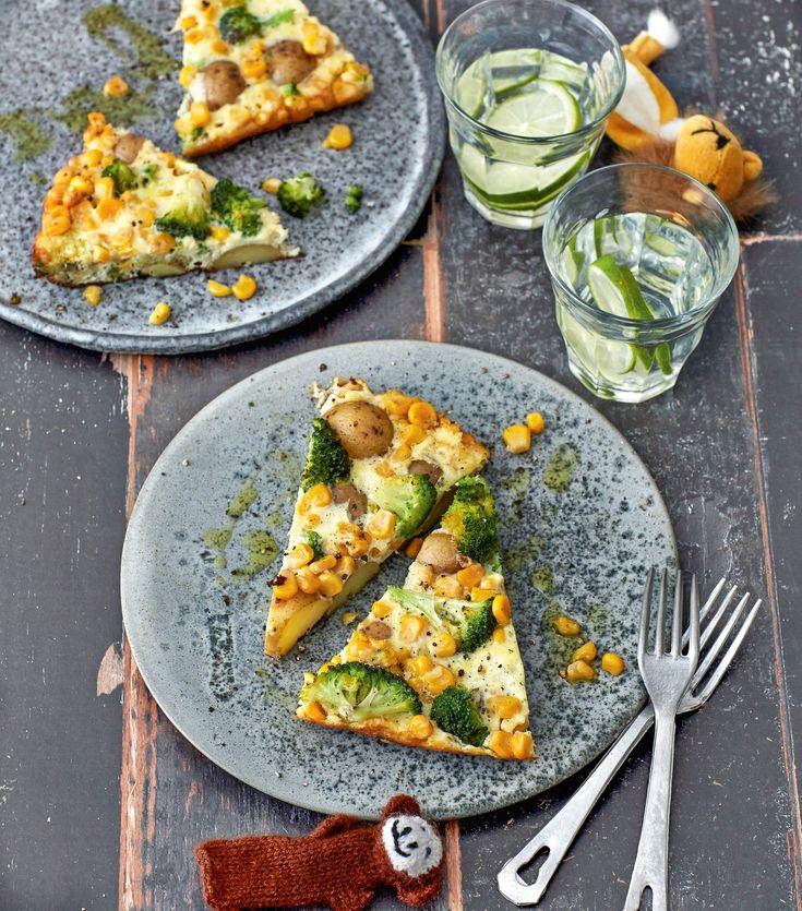 Kartoffel-Mais-Omelett (Foto: Fotos:Julia Hoersch, Food-Styling: Pia Westermann, Styling: Katja Graumann © Julia Hörsch für ZS Verlag)