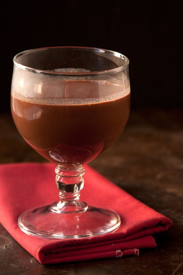 Bittersweet Hot Chocolate with Red Wine Recipe | SAVEUR