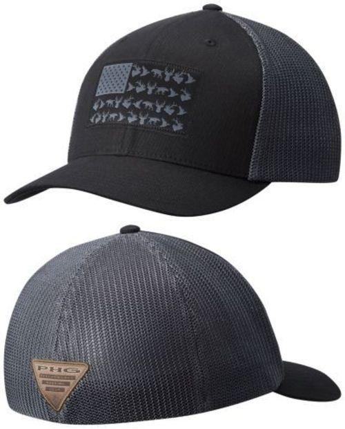 71b854765f15f Hats 52365  Men S Columbia Phg Flexfit Mesh Ball Cap New Black