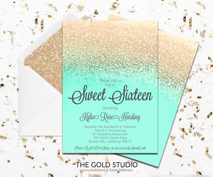 24 Best Sweet 16 Invitations Images On Pinterest Invitations And