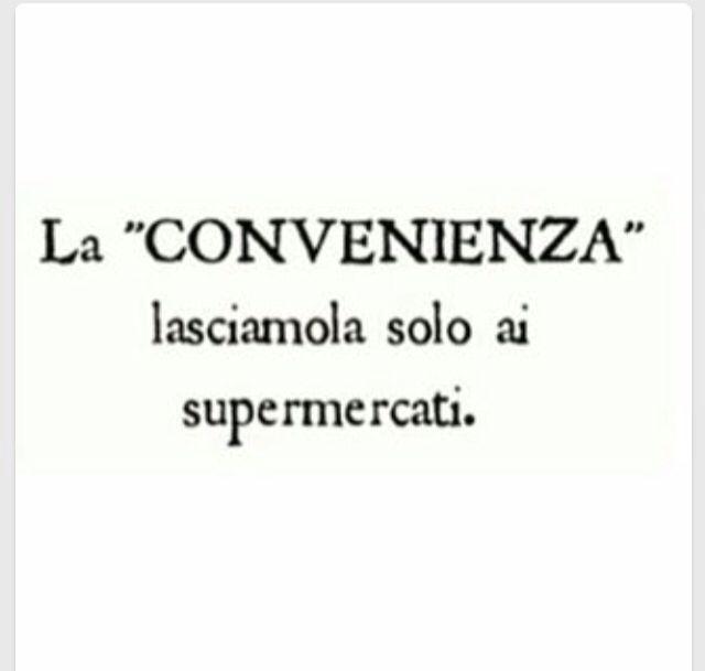 La convenienza ...