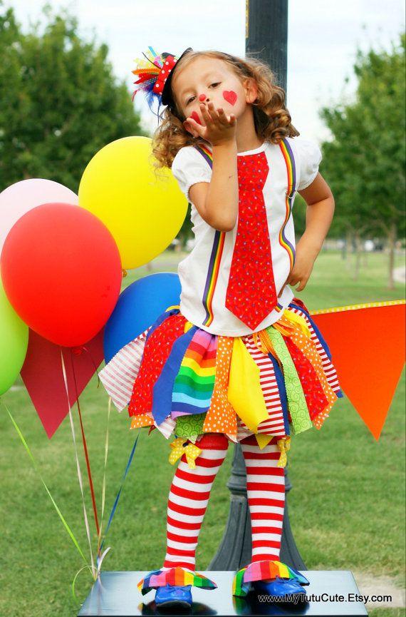 Cute clown scrap tutu