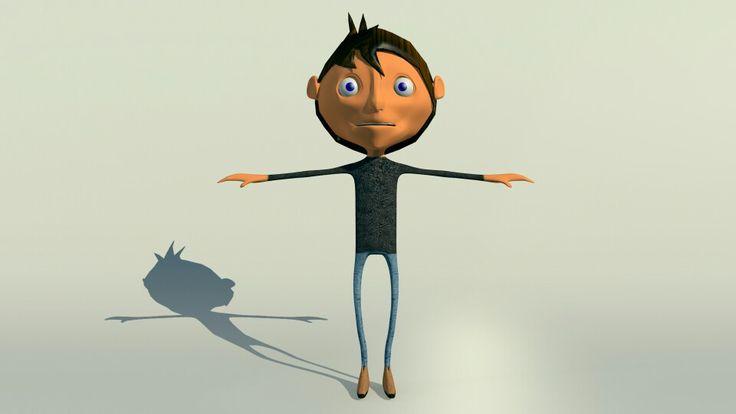 Yak !!!! Ini dia karakter nya yg udah di texturing  tapi sedih belom bisa gerak. Belom belajar rigging