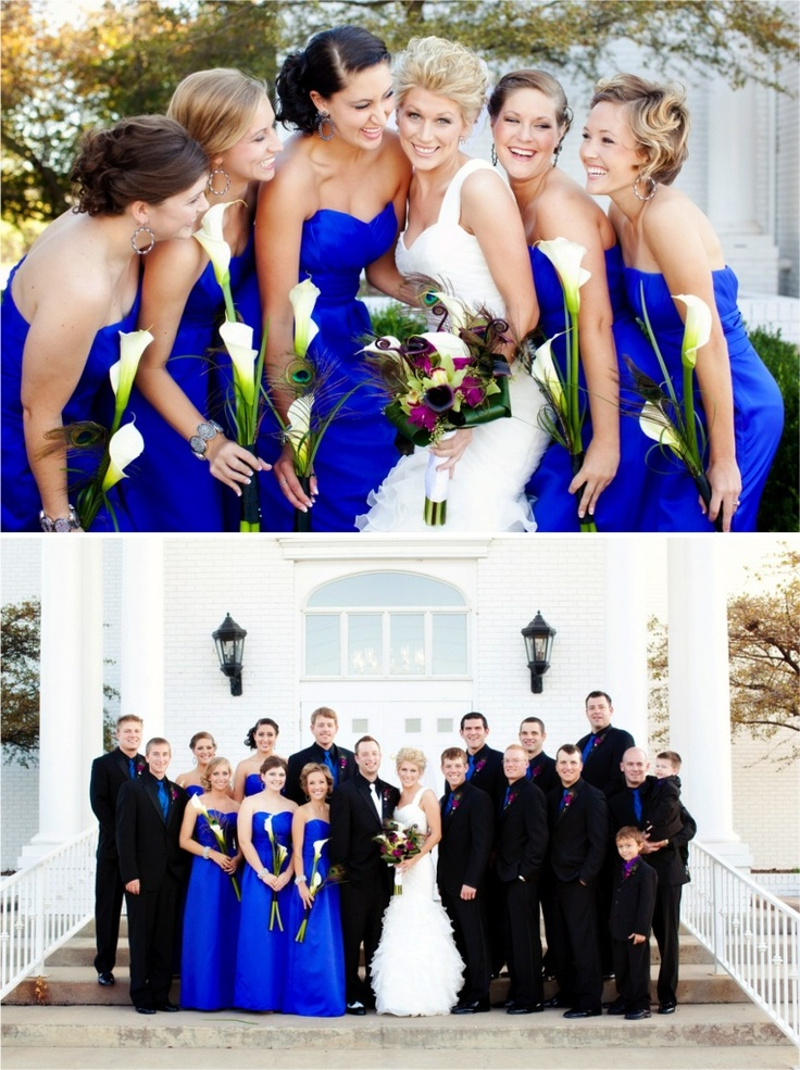 Best 24 future wedding ideas royal blue black white for Wedding dresses with royal blue accents