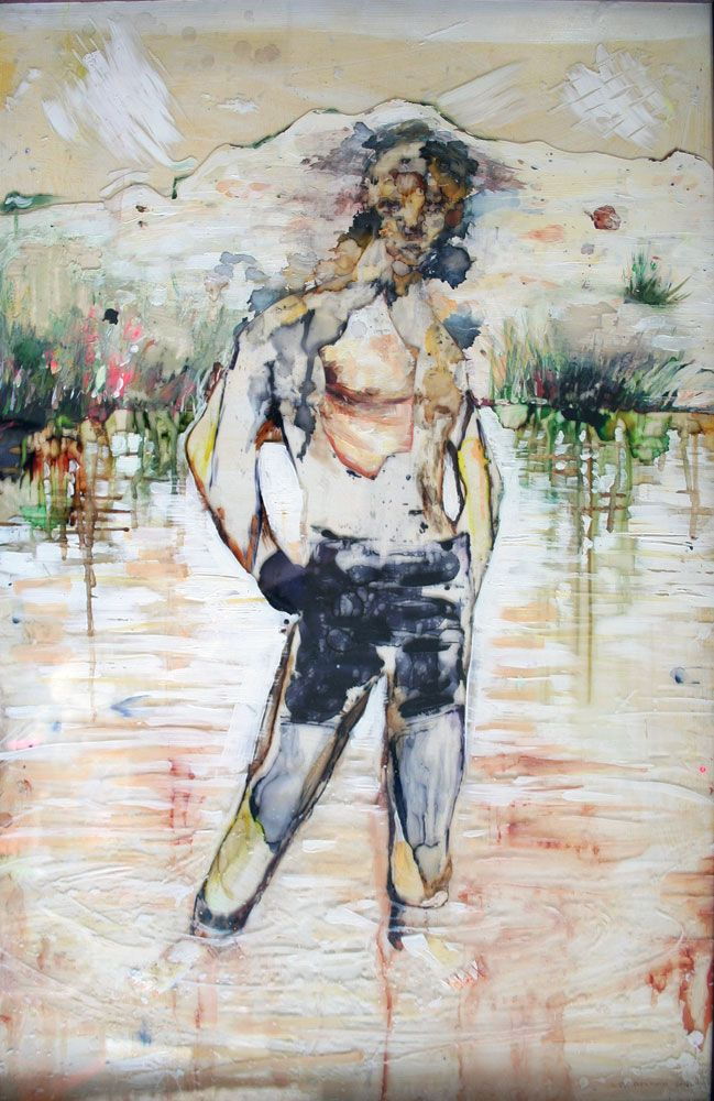 The Shallows by Chris Denovan. Mixed media on perspex - this new series of works are really cool!