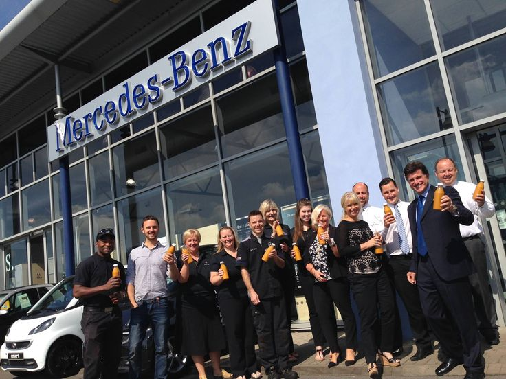 The staff at mercedes benz of swindon have joined forces for Mercedes benz of hanover staff