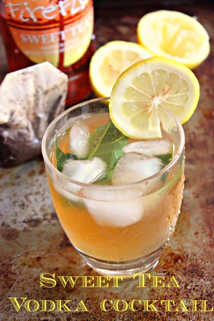 Sweet Tea Vodka There is a heat wave going on outside. Cool down with this Sweet Tea Vodka Cocktail. #cocktail