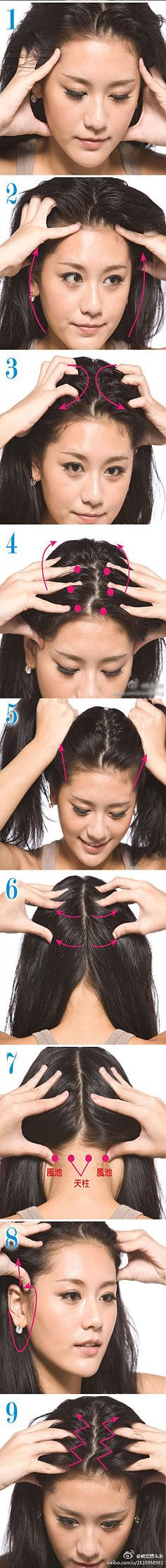 Masajes necesarios para el cuero cabelludo.