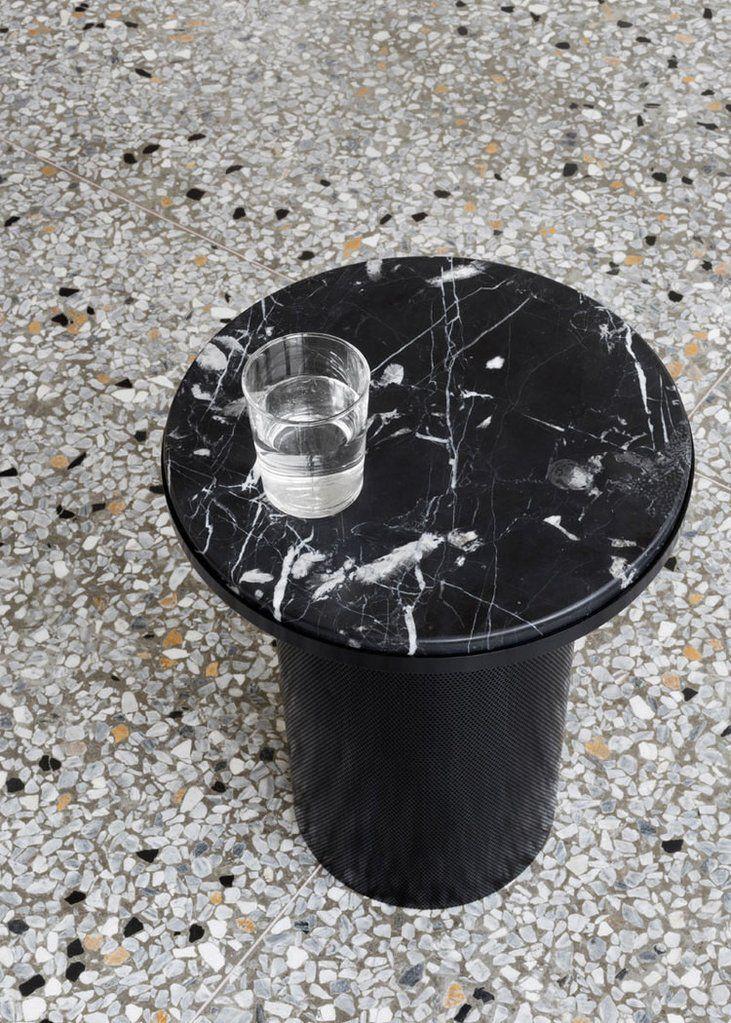 Esaila - Pedestal Side Table / Black - The Minimalist Store