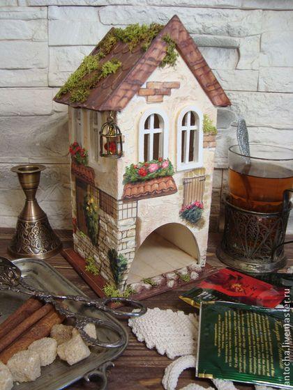 """Домик для чайных пакетиков """"Дом у моря"""" - домик для чая,для чайных пакетов"""