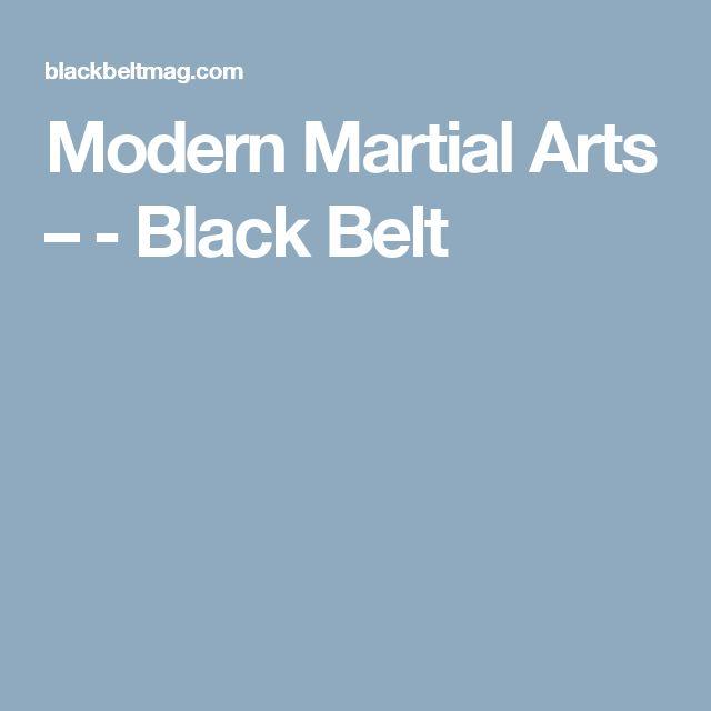 Modern Martial Arts – - Black Belt