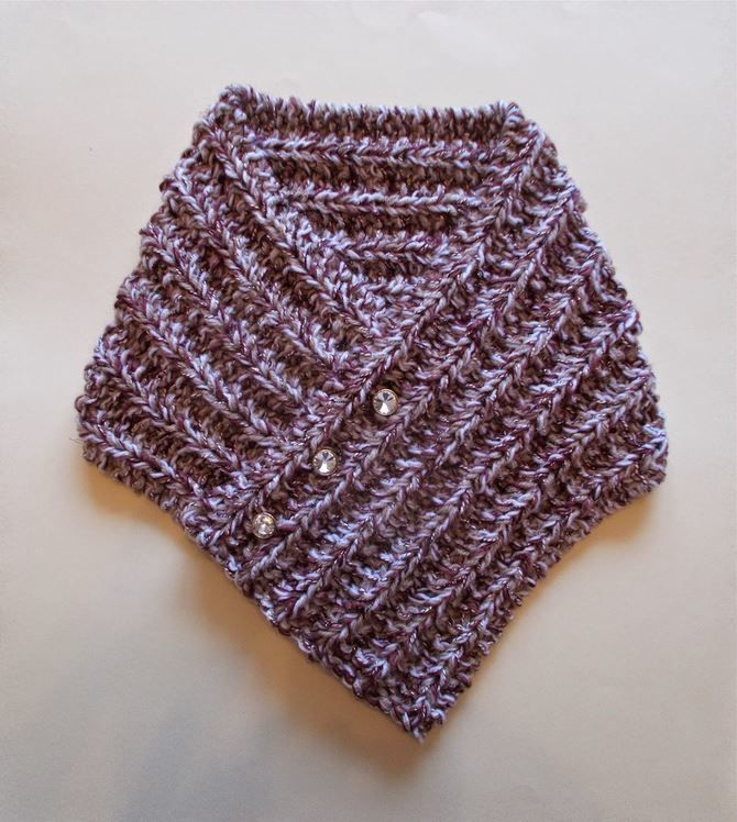 Tweedy Knit Neck Warmer