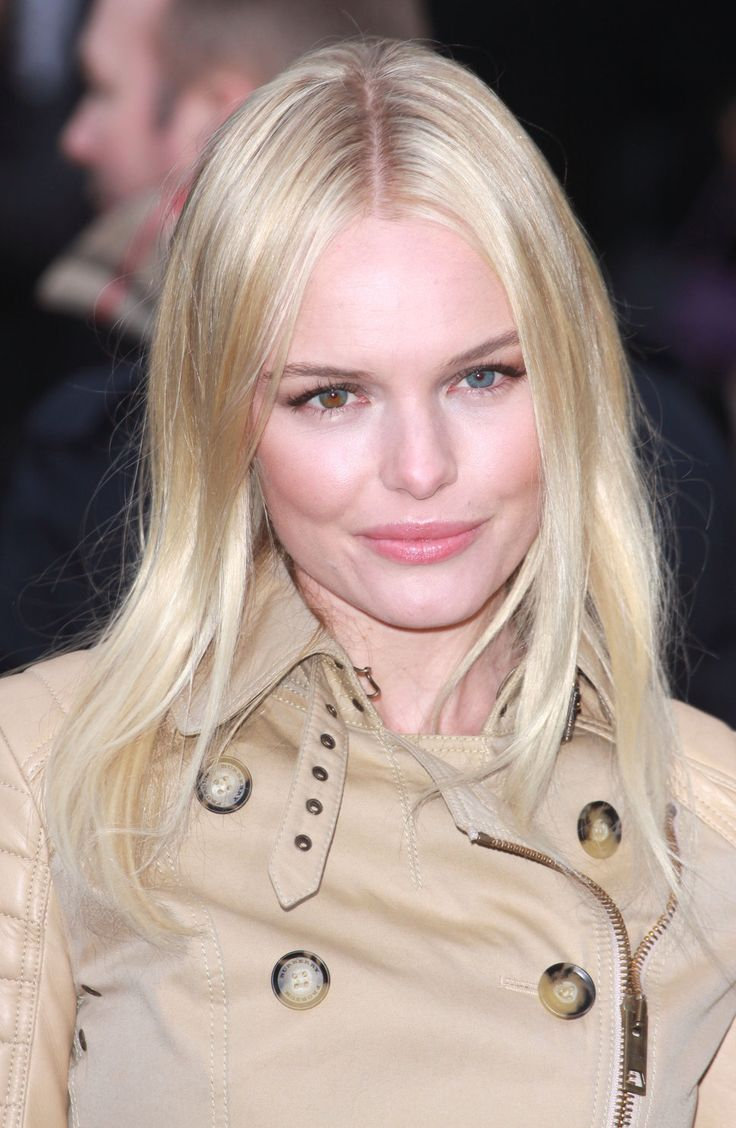 Blonde hair pale green eyes - Kate Bosworth Pink Lips Pale Countouring Blond Hair Beige Trench Coat One Green And One Brown Eye I Love Her Eyes Even Though She Does Different Coloured