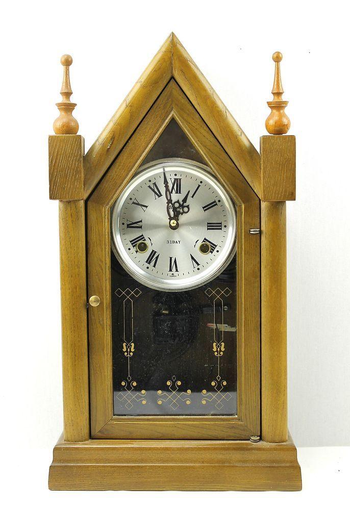 Vintage Alaron 31 Day Pendulum Cathedral Hanging or Mantel ...