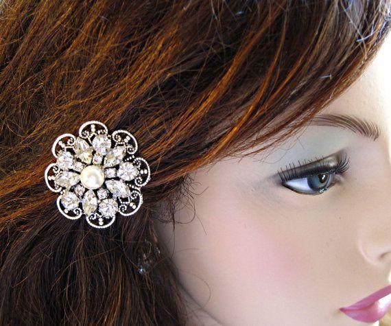 Large Hair pins, Pearl bobby pins, Bridesmaid hair Clip, Crystal Hair Pin set, Hair flowers, wedding hair clips, bridal Bobby Pins