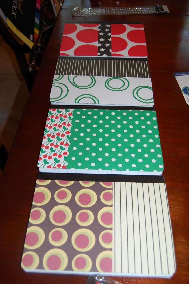 Scrapbook ideas school project - Scrapbook Paper Sticky Spray On Composition Notebooks Maybe For The Writing Club This Year