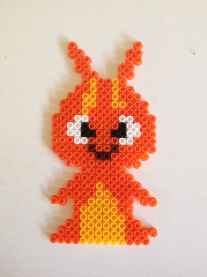 Burpy from Slugterra made in beads for AC | Perler Beads ...