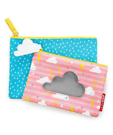 Another great find on #zulily! Pink & Blue Cloud Forget Me Not Kid Cases #zulilyfinds