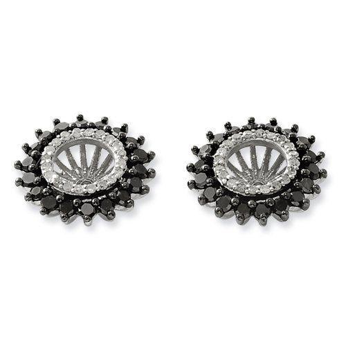 Sterling Silver Black & White Earring Jacket Jewelry Adviser Earrings. $241.74. Save 60% Off!