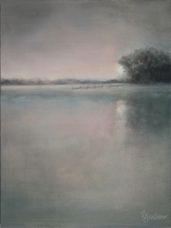 Misty Memories of Boerne Lake by Boerne artist Pamela Gardner