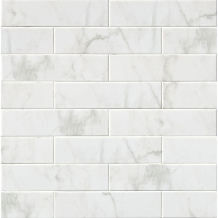 MS International Marmi Blanco White 4 in. x 16 in. Glazed Ceramic Wall Tile-NHDMARBLA4X16 - The Home Depot