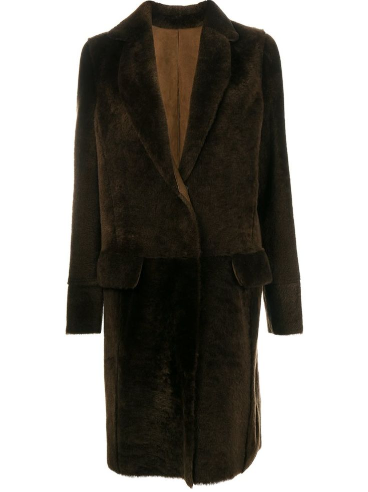 Yves Salomon пальто из овчины