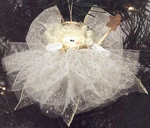 angel decorations to make   Fun little Christmas Angel made form tulle   Ornaments to Make